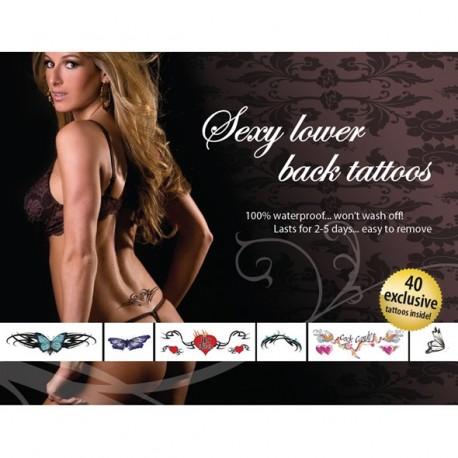 Temporäre Tattoos, ephemer. Board 40 für den unteren Rücken sexy