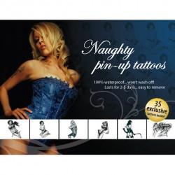 Sexy temporäres Tattoo - Burlesk Pin-up