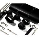 Kit de soumission de luxe - 5 accessoires BDSM avec pochette de rangement en cuir