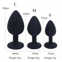 Silicon Anal Plugs - color: black - size: S