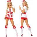 Sexy Krankenschwesterkostüm mit rotem Kreuz
