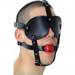Ball Gag – Bondage Ballknebel mit Maske