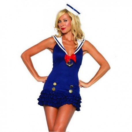 Marine Matrose Kostüm sexy Frau!