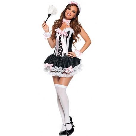Korsett Sexy Dienstmädchen Kostüm