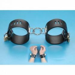 Verstellbare Handschellen aus Leder, mit Schloss verschließbar