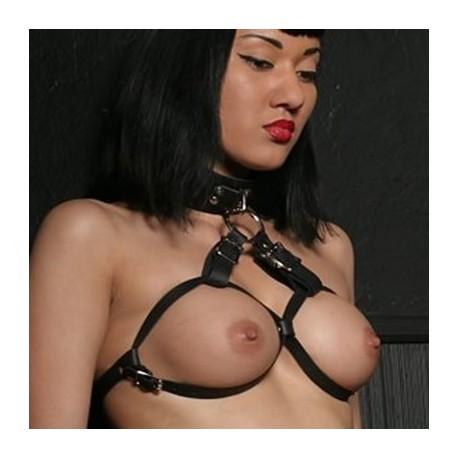 Halskette - Leder-BH verstellbar