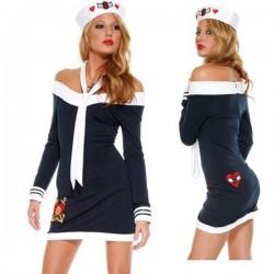 Verkleidung - Kostüm: Hautenges Matrosenkleid, sexy Matrosin!