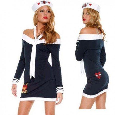 Costume : Robe moulante de marin, matelote sexy !